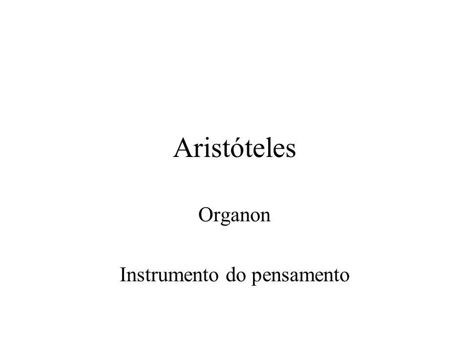 Aristóteles Organon Instrumento do pensamento
