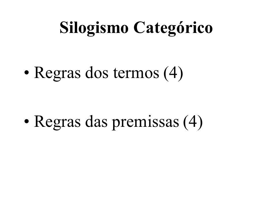 Regras dos termos (4) Regras das premissas (4)