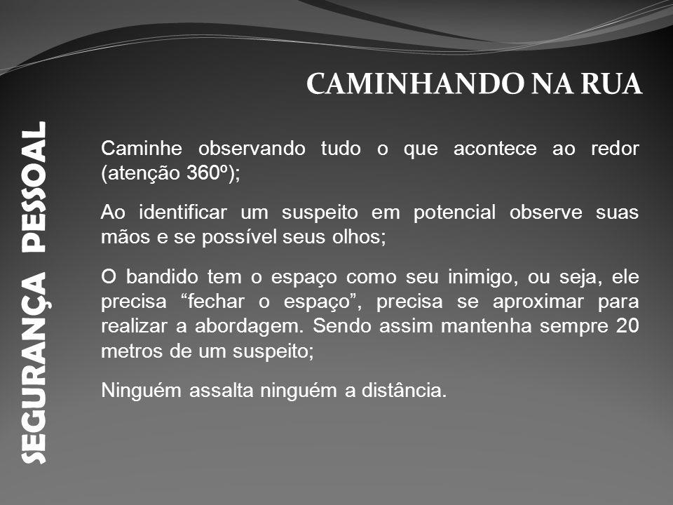 SEGURANÇA PESSOAL MARGEM DE SEGURANÇA 20 metros suspeito sempre
