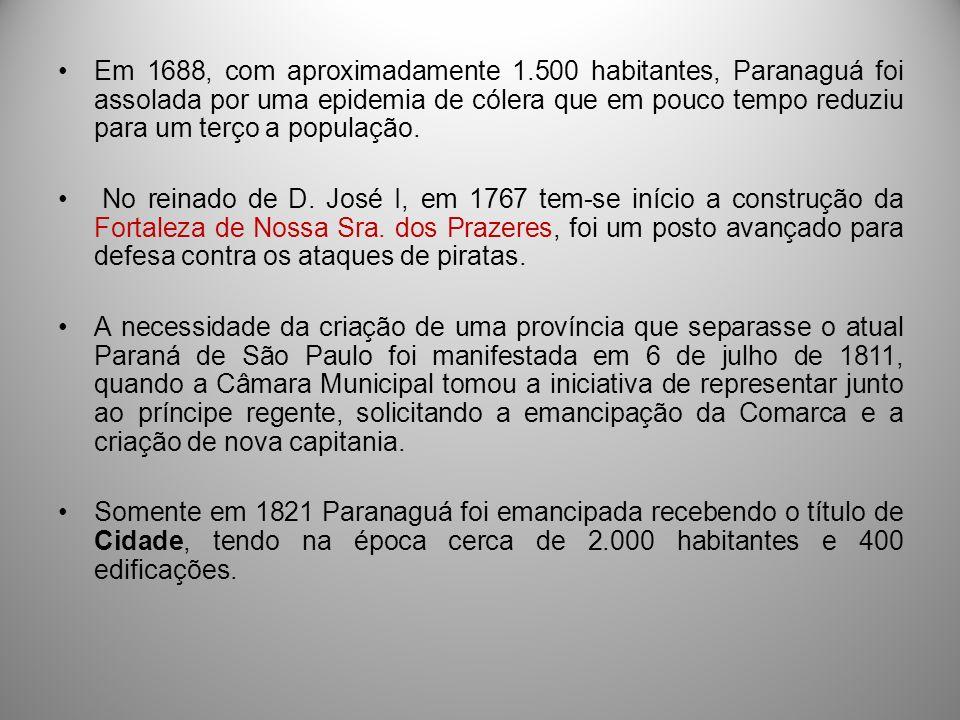 PROVÍNCIA DO PARANÁ 29 DE AGOSTO de 1853: aprovado o projeto de criação da província do Paraná, assinada por D.