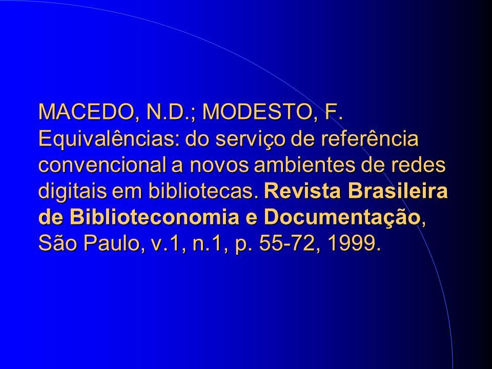 MACEDO, N.D.; MODESTO, F.