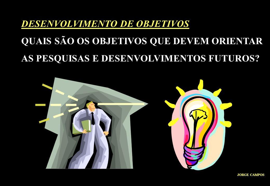 DESENVOLVIMENTO DE OBJETIVOS QUAIS SÃO OS OBJETIVOS QUE DEVEM ORIENTAR AS PESQUISAS E DESENVOLVIMENTOS FUTUROS.