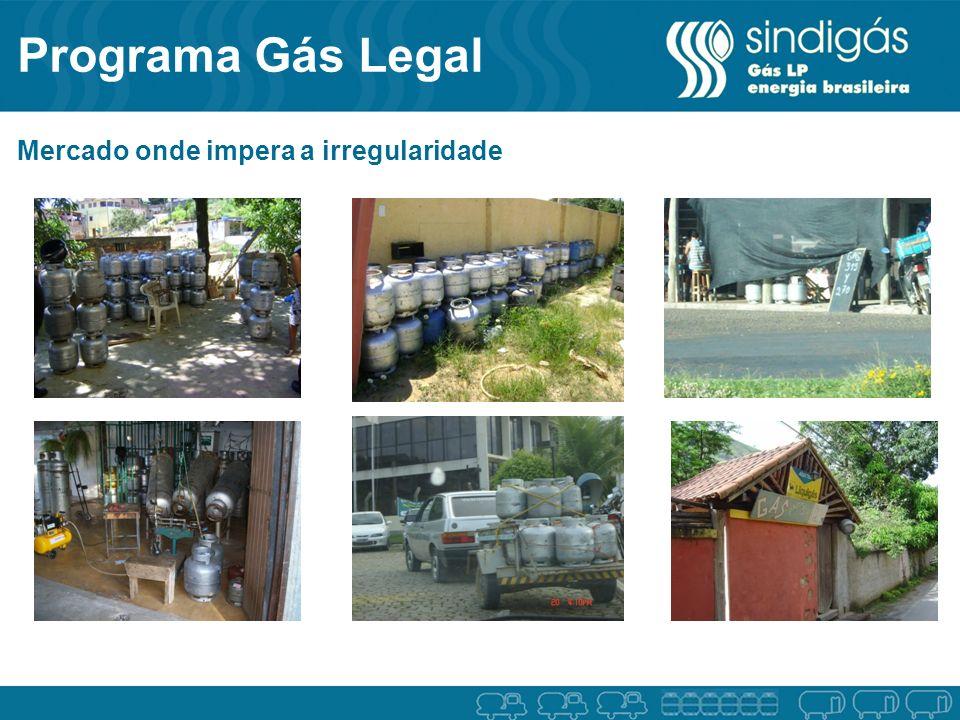Programa Gás Legal Mercado onde impera a irregularidade