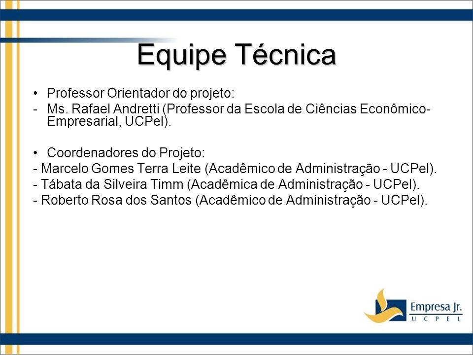 Equipe Técnica Professor Orientador do projeto: -Ms.