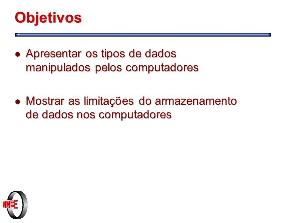 Dados numéricos Reais l É a união dos conjuntos dos números racionais e irracionais.