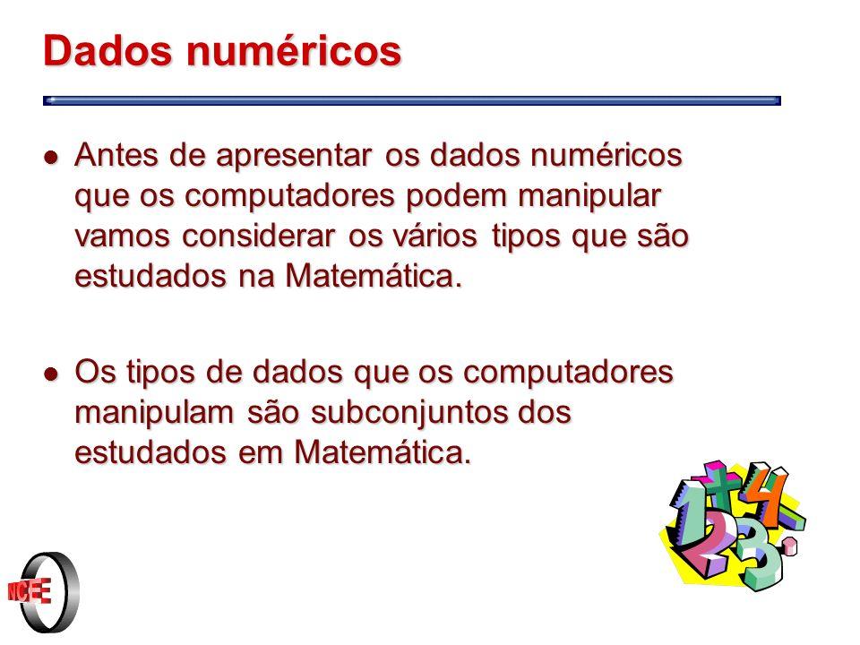 Números inteiros e bits cont.