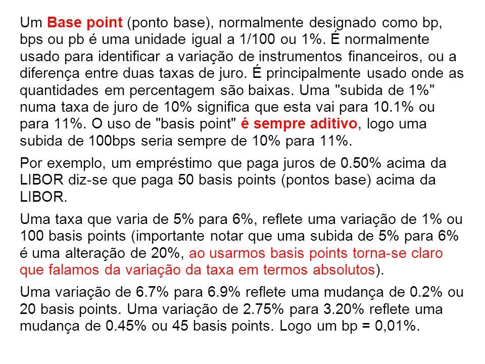 Um Base point (ponto base), normalmente designado como bp, bps ou pb é uma unidade igual a 1/100 ou 1%.