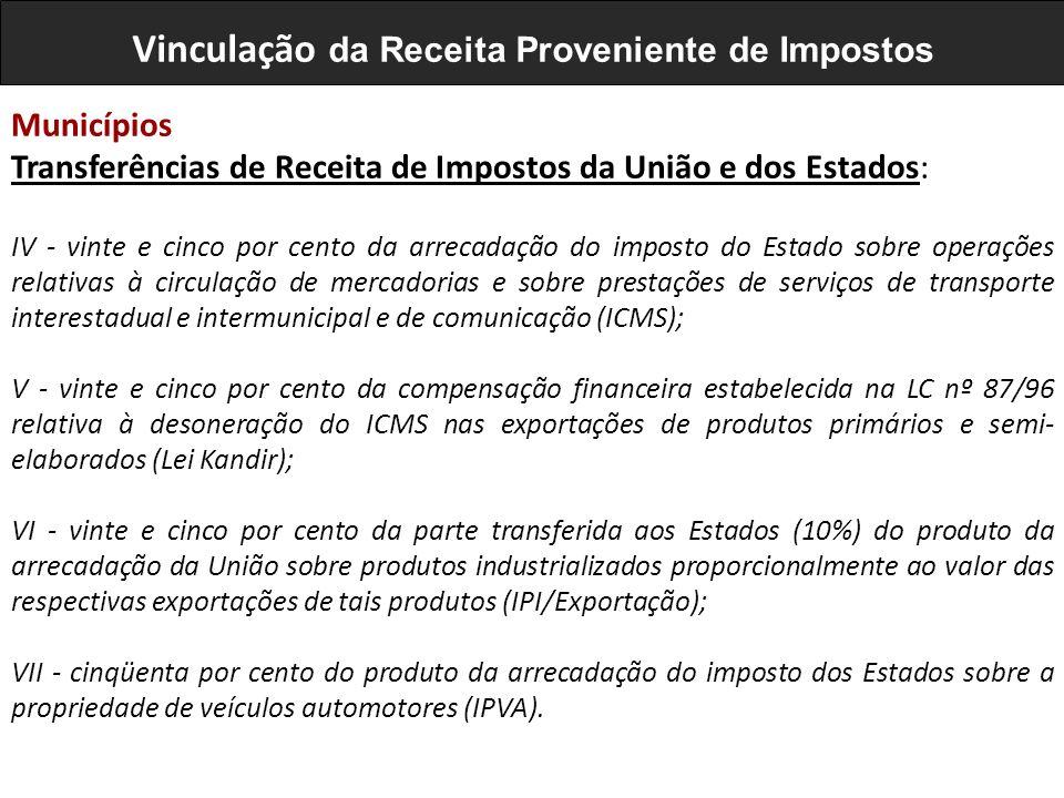 IV - vinte e cinco por cento da arrecadação do imposto do Estado sobre operações relativas à circulação de mercadorias e sobre prestações de serviços