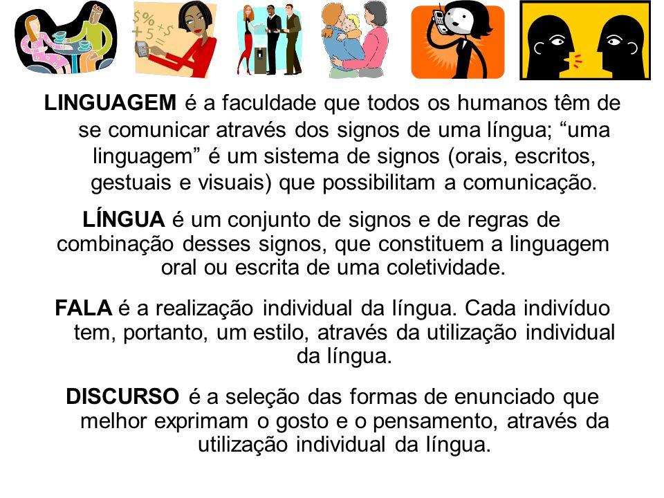 SIGNO é a associação de um significante e um significado. SIGNIFICANTE: sons da fala, imagem gráfica, desenho. SIGNIFICADO: idéia, conceito mental, im