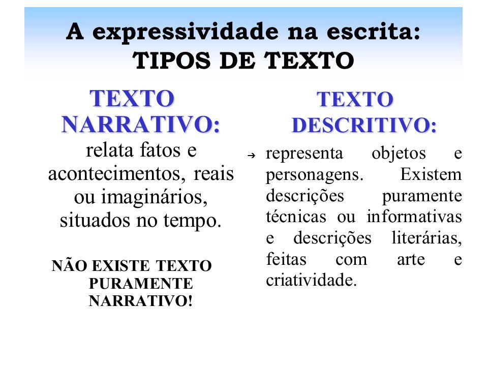 A expressividade na escrita: FUNÇÕES DA LINGUAGEM FUNÇÃO REFERENCIAL:FUNÇÃO REFERENCIAL: c centraliza-se no contexto, no referente, e tem por finalida