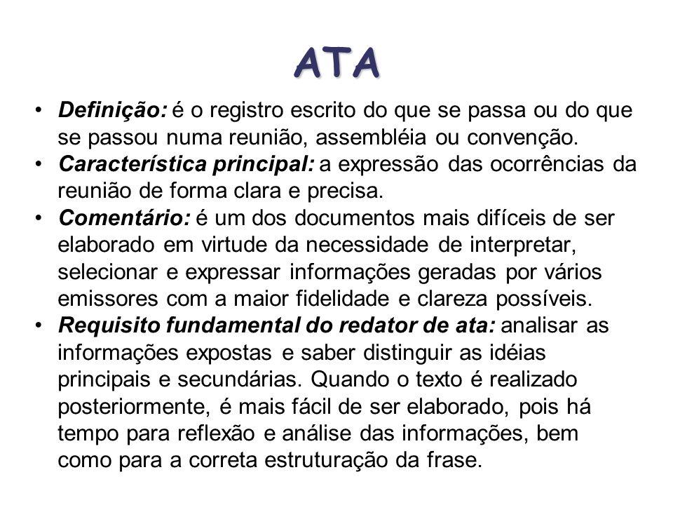 CARTA MODERNA Texto: conforme IN n°133/82, o texto inicia-se sempre sem abertura de parágrafo. A separação de parágrafos fica demonstrada por um espaç