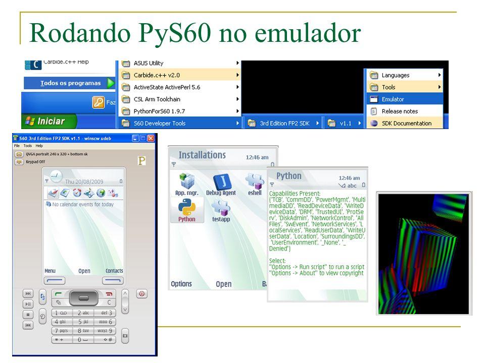 Rodando PyS60 no emulador