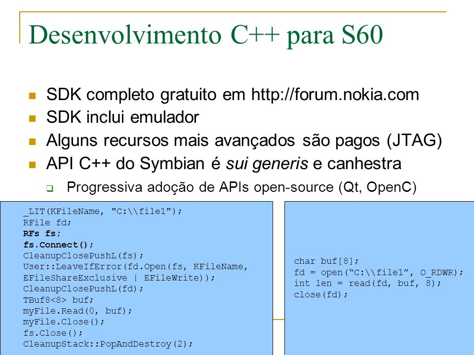 # Copyright Jurgen Scheible import e32, camera, appuifw, key_codes def finder_cb(im): canvas.blit(im) def take_picture(): camera.stop_finder() pic = camera.take_photo(size = (640,480)) w,h = canvas.size canvas.blit(pic,target=(0, 0, w, 0.75 * w), scale = 1) pic.save( e:\\teste.jpg ) def quit(): app_lock.signal() canvas = appuifw.Canvas() appuifw.app.body = canvas camera.start_finder(finder_cb) canvas.bind(key_codes.EKeySelect, take_picture) appuifw.app.title = u Camera appuifw.app.exit_key_handler = quit app_lock = e32.Ao_lock() app_lock.wait()
