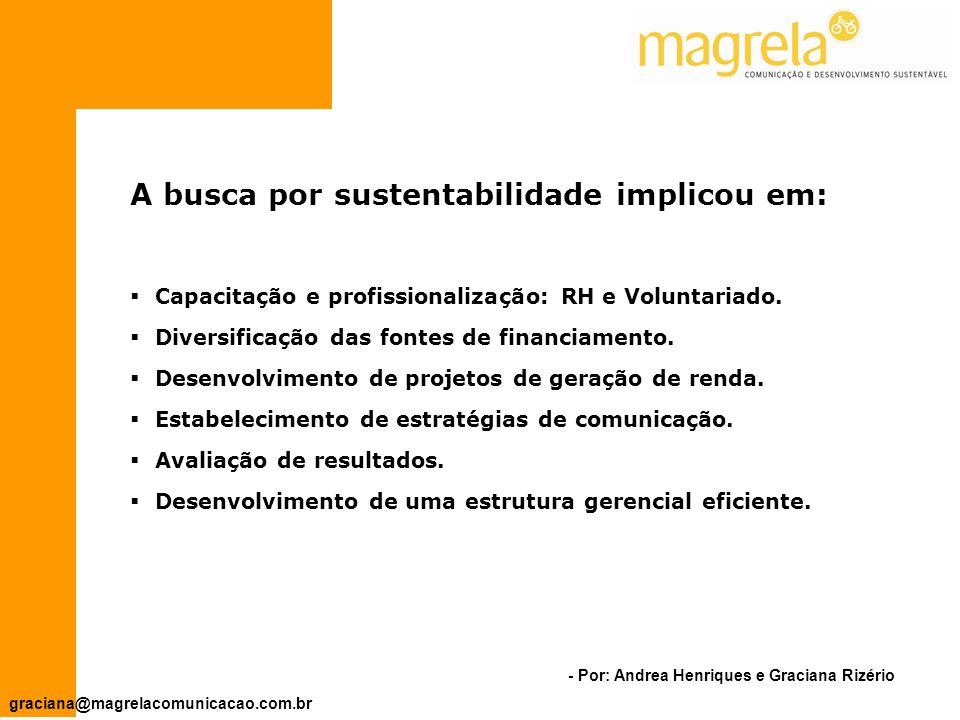 - Por: Andrea Henriques e Graciana Rizério graciana@magrelacomunicacao.com.br Todos os projetos específicos devem ser expressão do plano estratégico institucional.