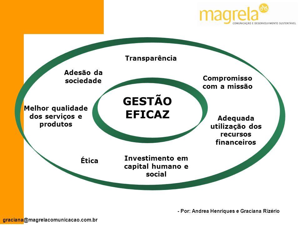 - Por: Andrea Henriques e Graciana Rizério graciana@magrelacomunicacao.com.br Capacitação e profissionalização: RH e Voluntariado.