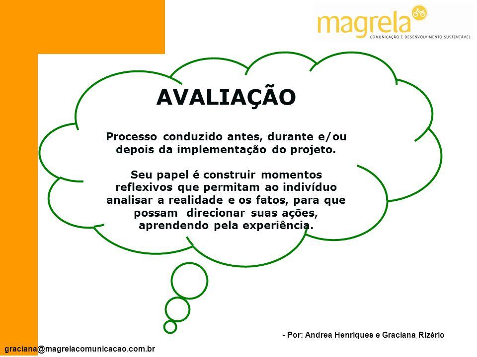- Por: Andrea Henriques e Graciana Rizério graciana@magrelacomunicacao.com.br PLANO DE ATIVIDADES (objetivos específicos) O QUÊQUEMCOMOQUANDOQUANTO 1.