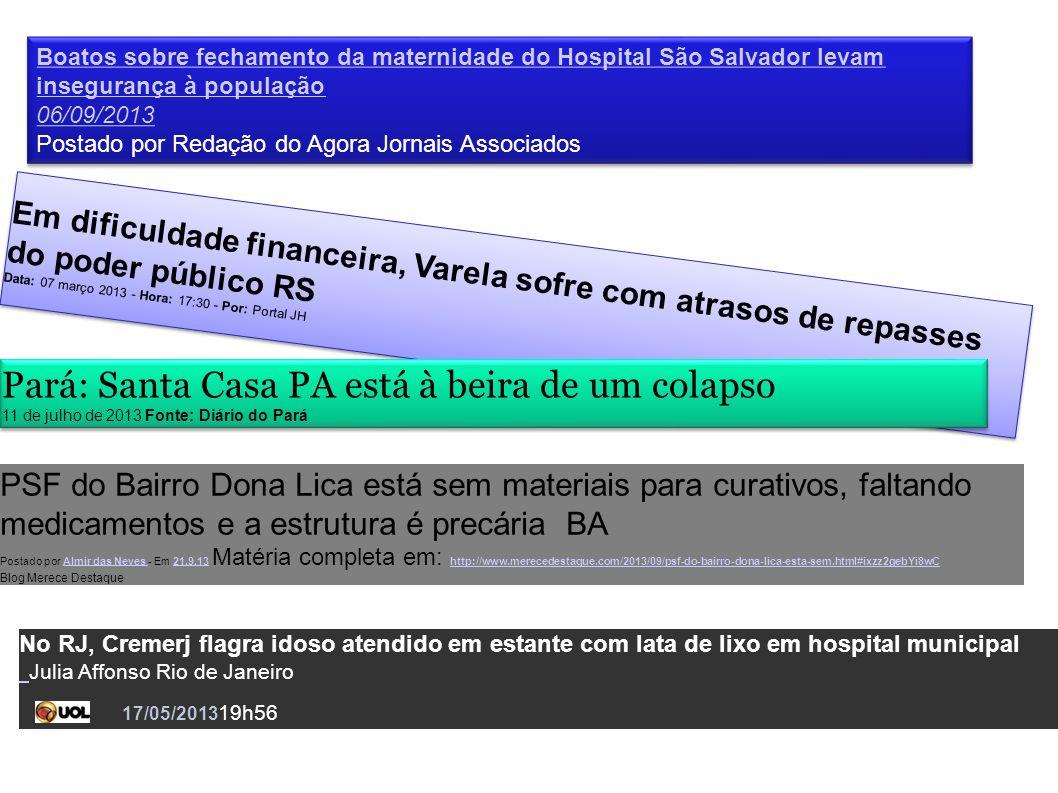 Boatos sobre fechamento da maternidade do Hospital São Salvador levam insegurança à população 06/09/2013 Postado por Redação do Agora Jornais Associad