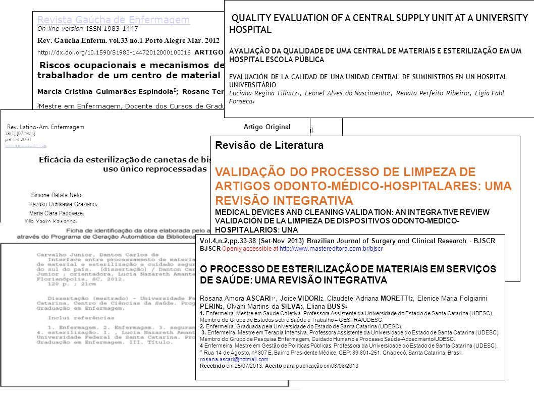 Revista Gaúcha de Enfermagem On-line version ISSN 1983-1447 Rev. Gaúcha Enferm. vol.33 no.1 Porto Alegre Mar. 2012 http://dx.doi.org/10.1590/S1983-144