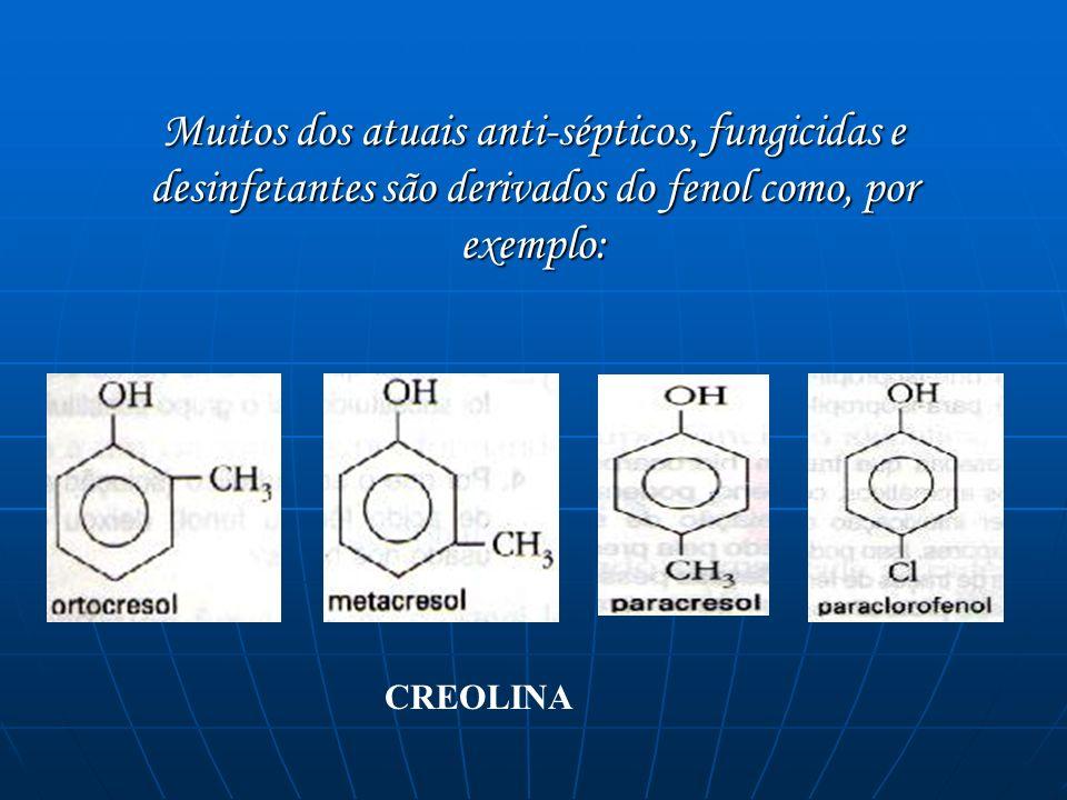 Essas substâncias podem fazer parte de um dos desinfetantes mais industrializados em indústrias e em recintos fechados destinados à criação de animais de corte, conhecido com o nome de creolina.
