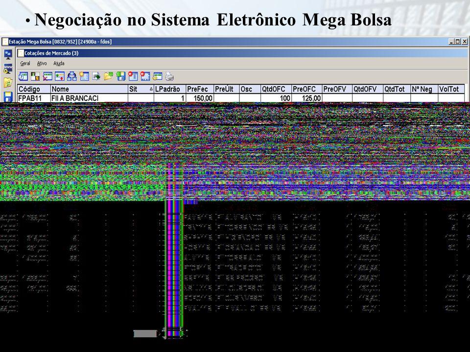 Negociação no Sistema Eletrônico Mega Bolsa