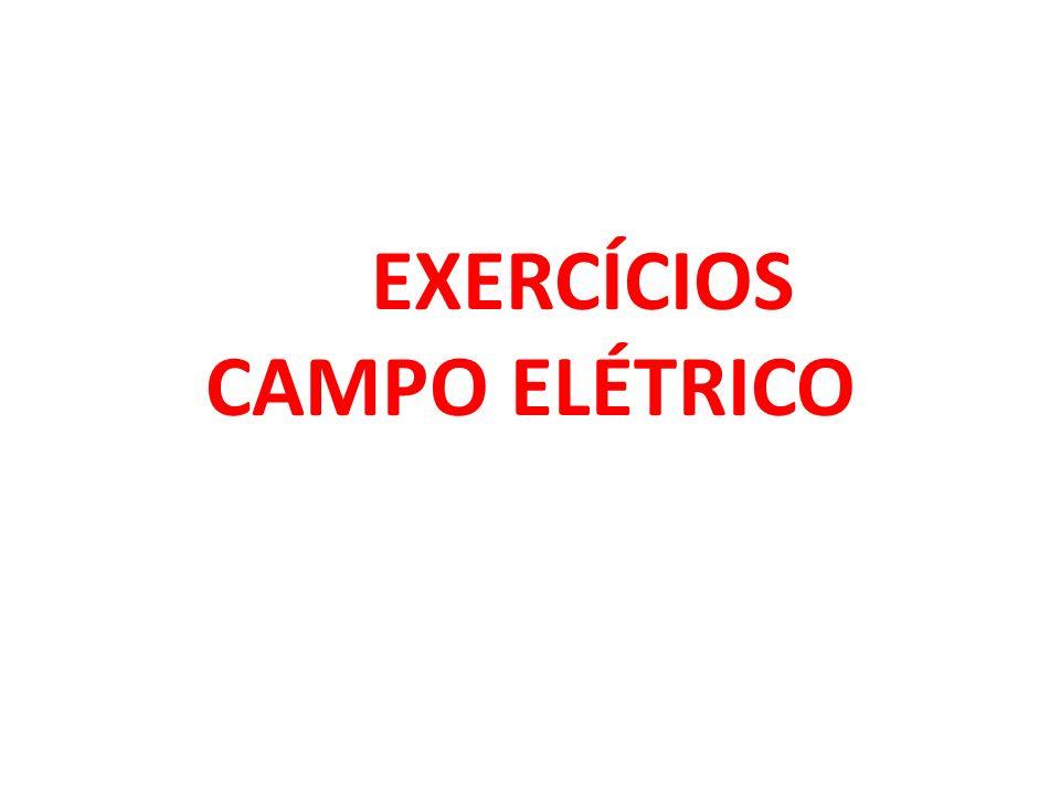 1 - (PUC RIO) Uma carga positiva encontra-se numa região do espaço onde há um campo elétrico dirigido verticalmente para cima.