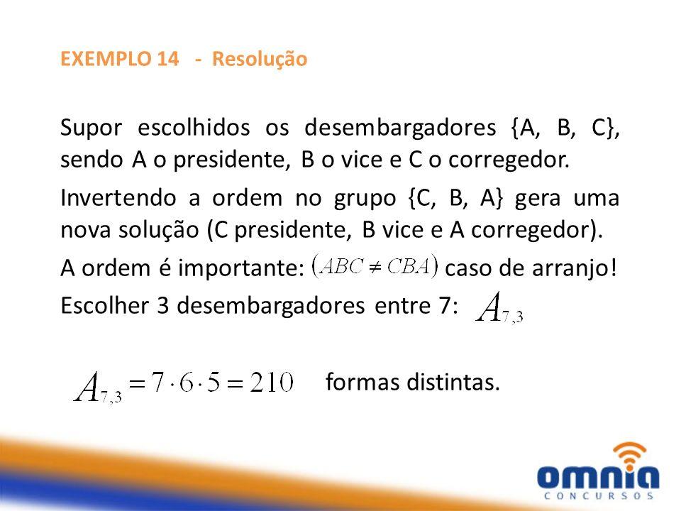 PRINCIPAIS TÉCNICAS DE CONTAGEM 1) ARRANJOS SIMPLES – CÁLCULO PRÁTICO, SEM FÓRMULA O arranjo arranjo de n p a p possui p fatores multiplicados a partir de n.