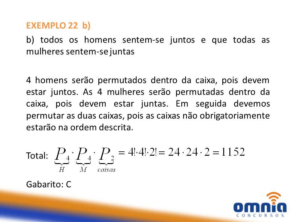 EXEMPLO 23 Se colocarmos em ordem crescente todos os números de 5 algarismos distintos obtidos com 1, 3, 4, 6 e 7, que posição ocupa o número 61 473?