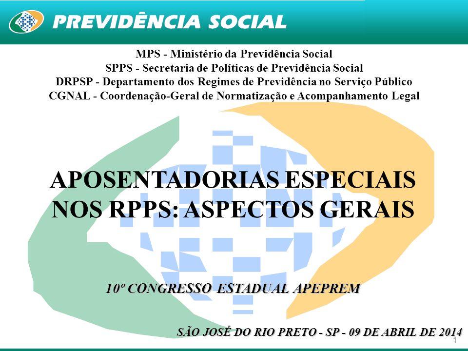 1 MPS - Ministério da Previdência Social SPPS - Secretaria de Políticas de Previdência Social DRPSP - Departamento dos Regimes de Previdência no Servi