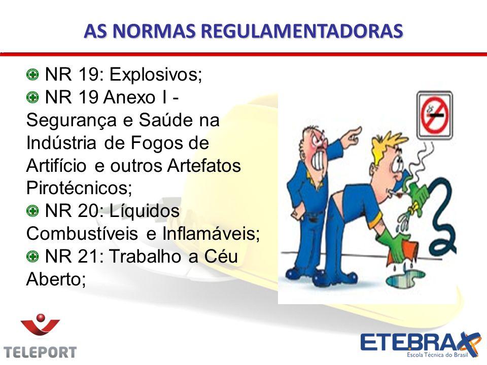 AS NORMAS REGULAMENTADORAS NR 19: Explosivos; NR 19 Anexo I - Segurança e Saúde na Indústria de Fogos de Artifício e outros Artefatos Pirotécnicos; NR