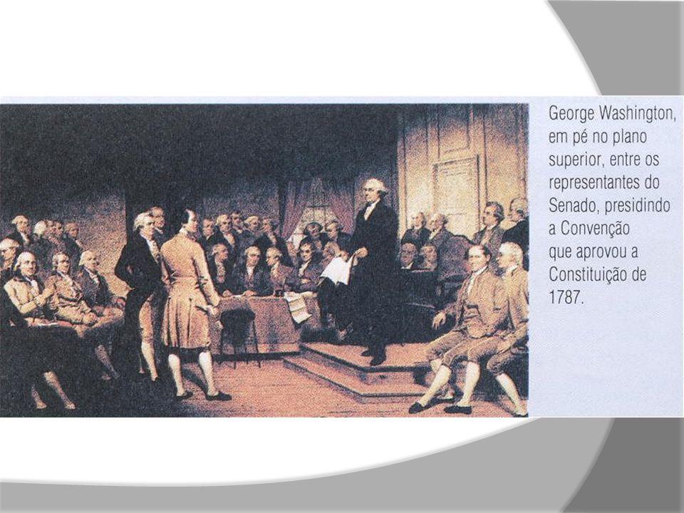 Após a declaração de independência dos EUA, nasceram os partidos: Democrata e o Republicano.