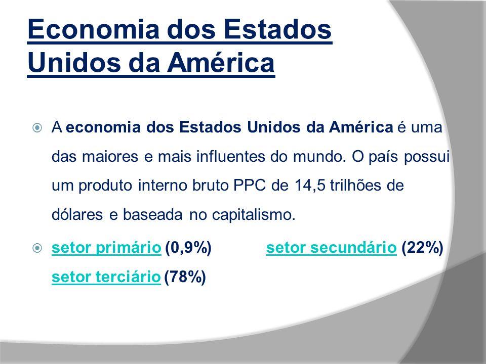 Economia dos Estados Unidos da América A economia dos Estados Unidos da América é uma das maiores e mais influentes do mundo.