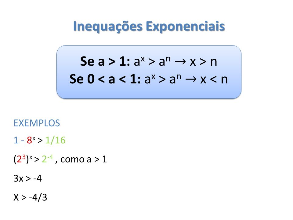 2 – Resolva as seguintes inequações: a) b) c)