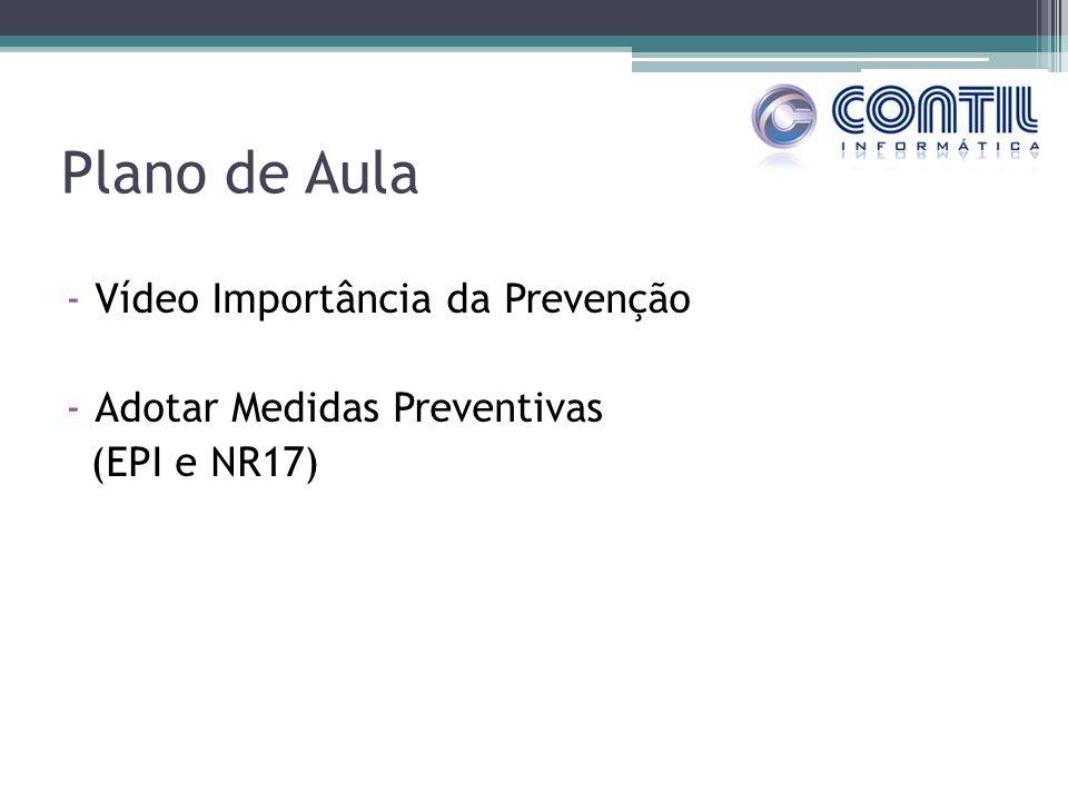 Plano de Aula -Vídeo Importância da Prevenção -Adotar Medidas Preventivas (EPI e NR17)
