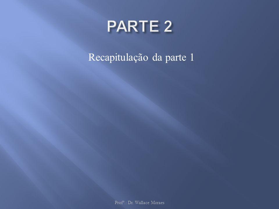 Recapitulação da parte 1 Profº.: Dr. Wallace Moraes