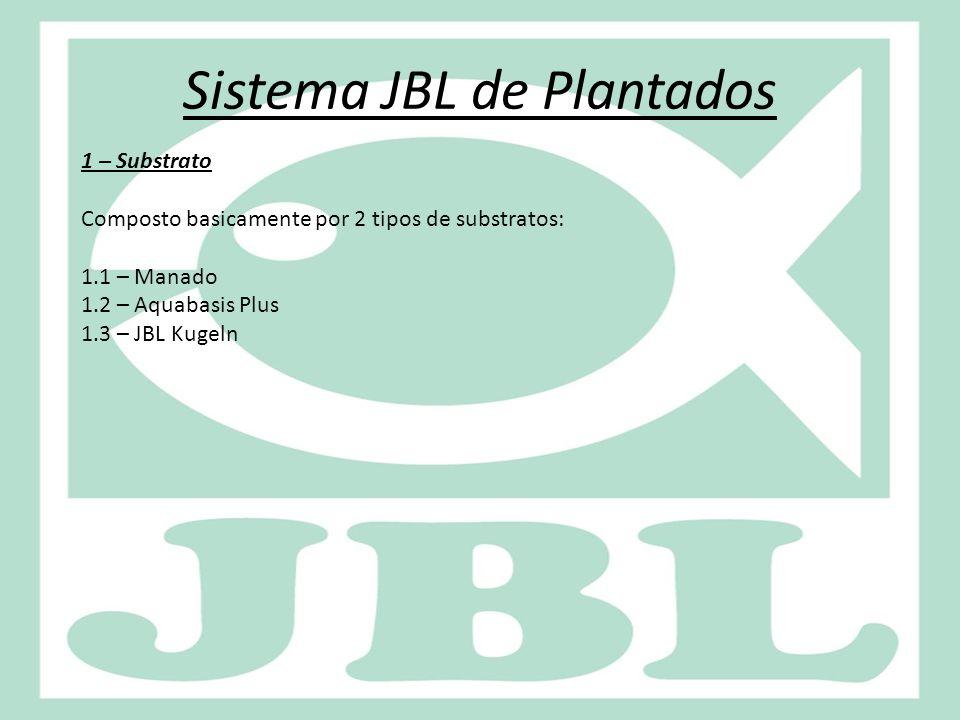 Sistema JBL de Plantados 1 – Substrato Composto basicamente por 2 tipos de substratos: 1.1 – Manado 1.2 – Aquabasis Plus 1.3 – JBL Kugeln