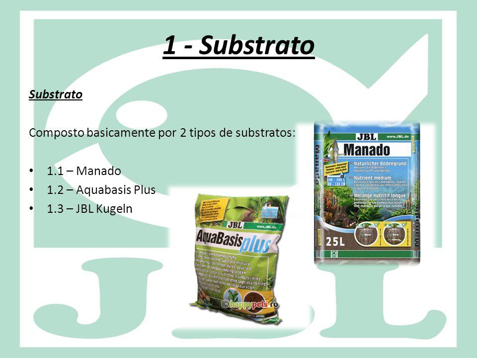1.1 – Manado O JBL Manado é um substrato que pode ser utilizado puro ou em combinação com o Aquabasis Plus, dependendo da demanda do aquário em questão.