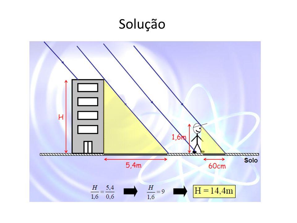 Determinação da Altura de Objetos por Semelhança de Triângulos.