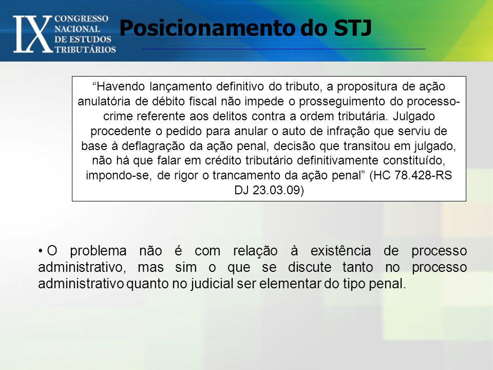 A existência de ação cível anulatória do crédito tributário não impede a persecução penal dos agentes públicos em juízo, em respeito à independência d