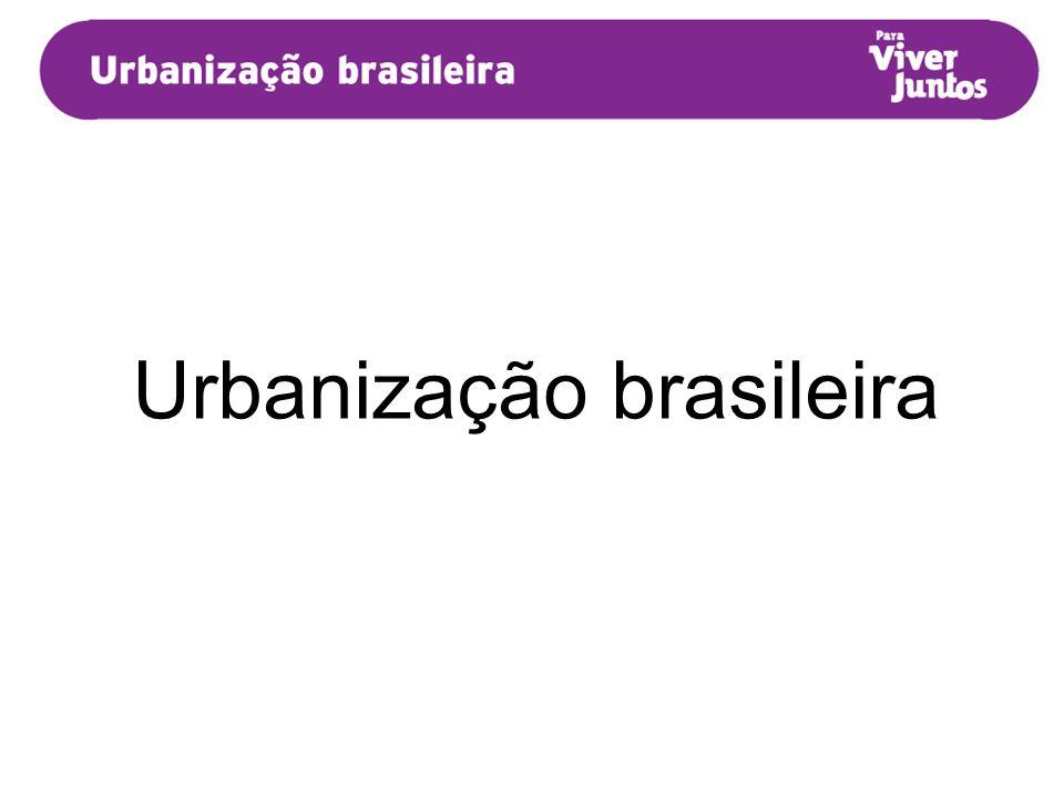 A urbanização acelerada trouxe problemas para as grandes cidades brasileiras, que não possuíam infraestrutura adequada para receber, repentinamente, esse contingente populacional.
