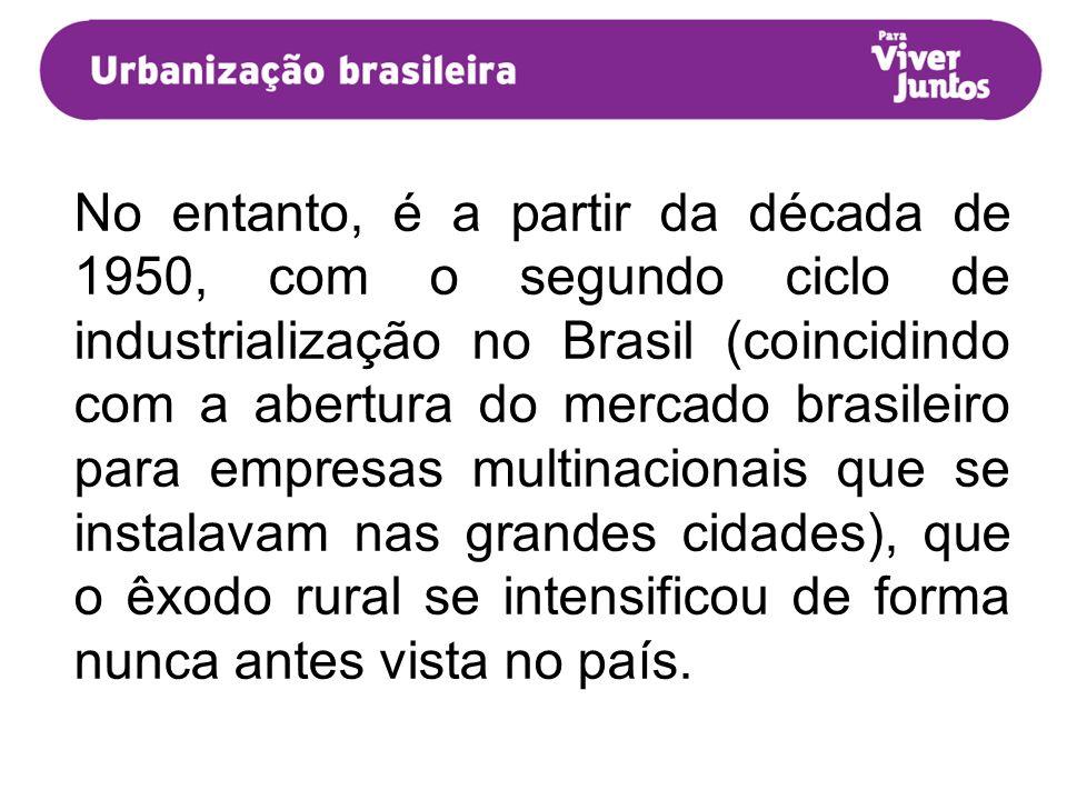 No entanto, é a partir da década de 1950, com o segundo ciclo de industrialização no Brasil (coincidindo com a abertura do mercado brasileiro para emp