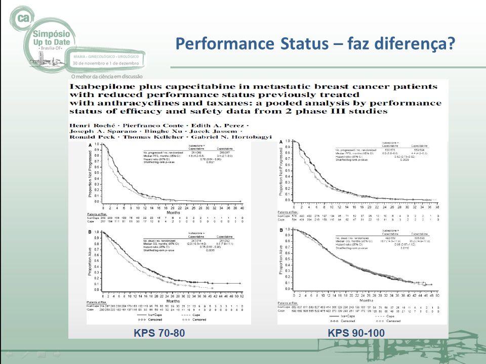 Performance Status – faz diferença?