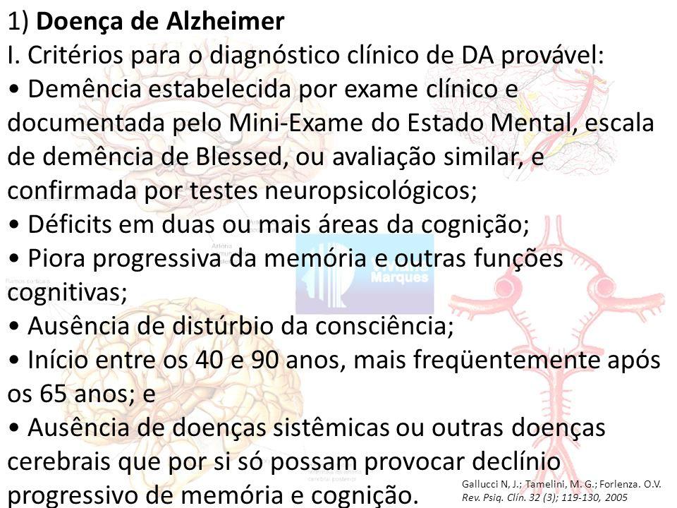 1) Doença de Alzheimer I.