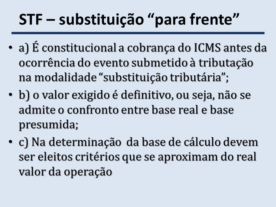 STF - ADI 4565/PI - continuação (c) No caso, a Constituição adotou como critério de partilha da competência tributária o estado de origem das mercadorias, de modo que o deslocamento da sujeição ativa para o estado de destino depende de alteração do próprio texto constitucional (reforma tributária).
