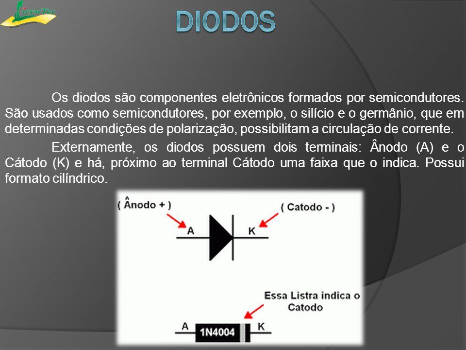A condição de um diodo semicondutor pode ser rapidamente determinada usando-se um ohmímetro.