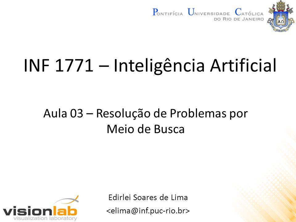INF 1771 – Inteligência Artificial Edirlei Soares de Lima Aula 03 – Resolução de Problemas por Meio de Busca