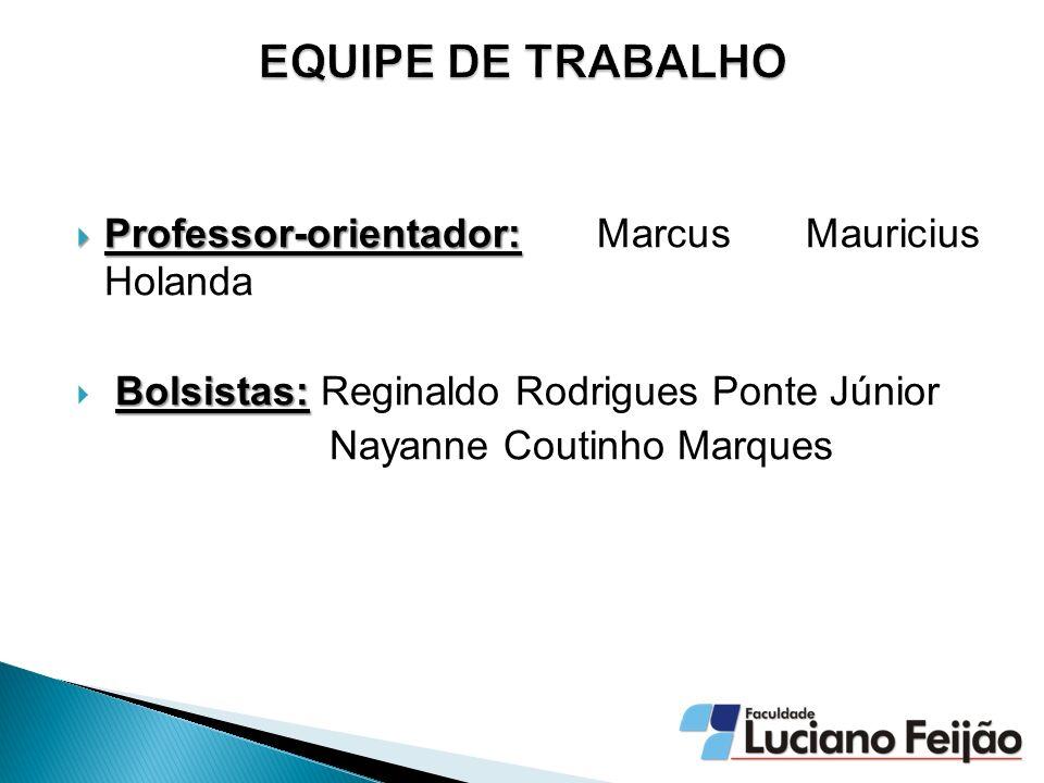 Professor-orientador: Professor-orientador: Marcus Mauricius Holanda Bolsistas: Bolsistas: Reginaldo Rodrigues Ponte Júnior Nayanne Coutinho Marques