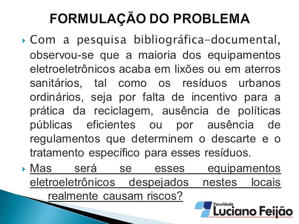 Um estudo realizado por Schluep (2009) demonstra que o Brasil é o maior produtor per capita de resíduos eletrônicos de computadores pessoais entre os países emergentes (0,5 kg/per capita./ano).