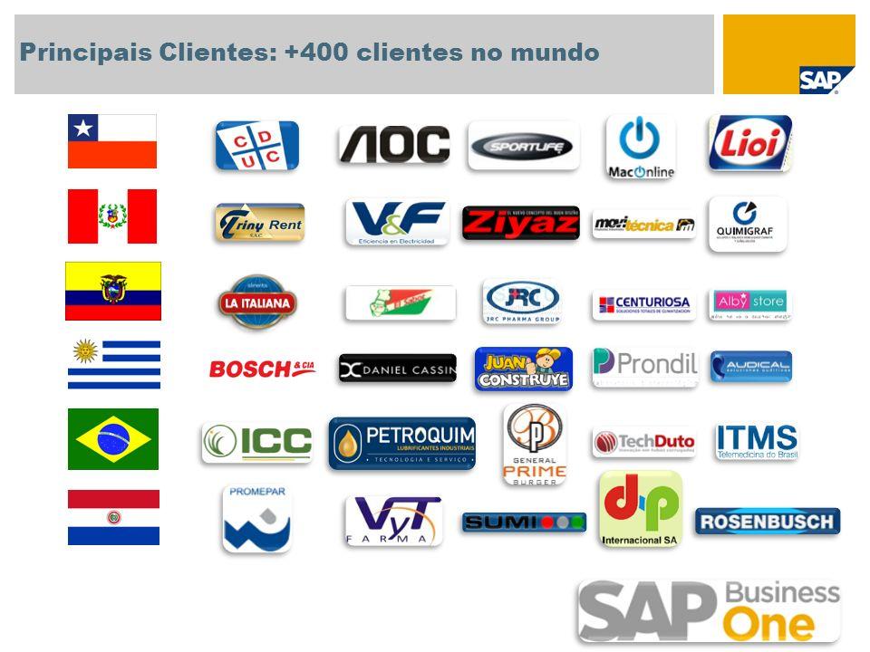 Principais Clientes: +400 clientes no mundo