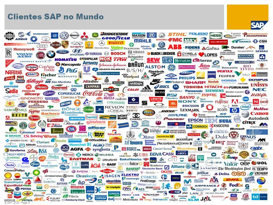 Clientes SAP no Mundo © SAP 2008 / Page 6