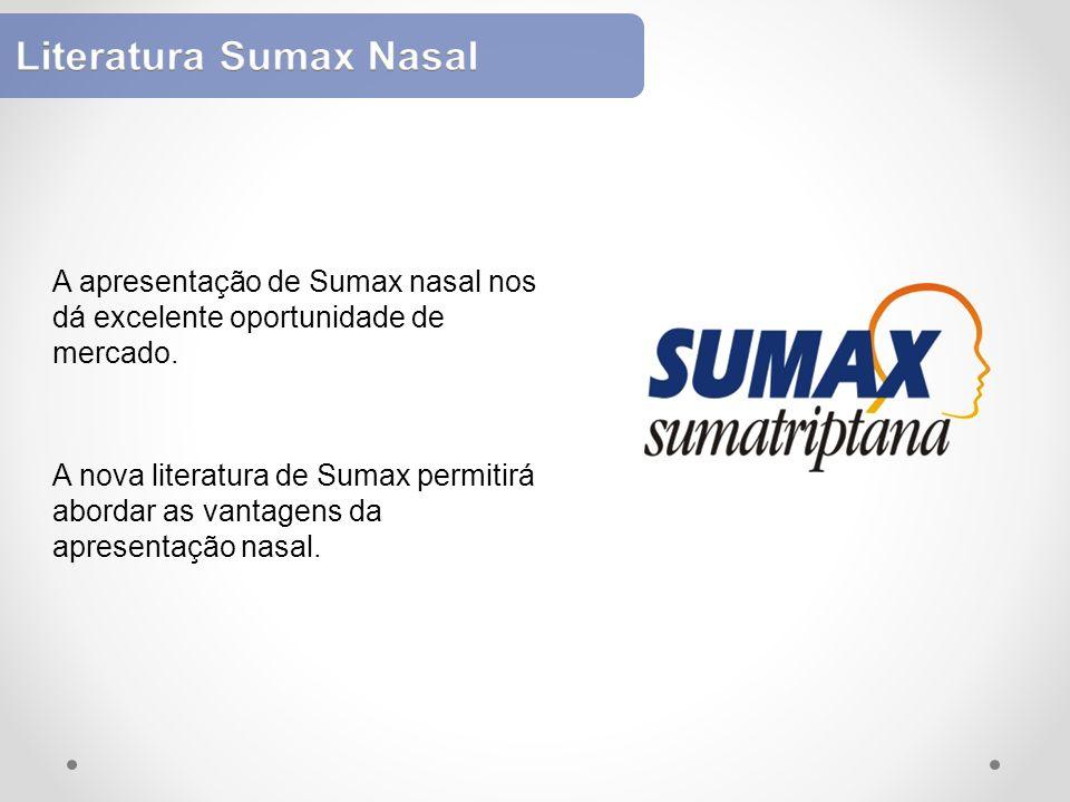 A apresentação de Sumax nasal nos dá excelente oportunidade de mercado. A nova literatura de Sumax permitirá abordar as vantagens da apresentação nasa